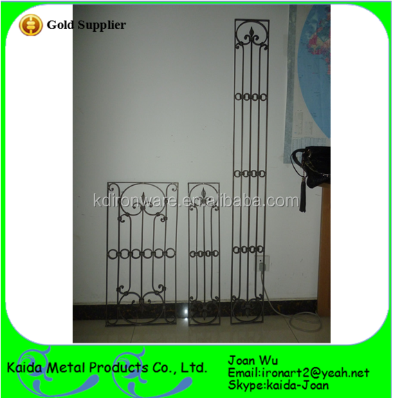New Simple Steel Wrought Iron Door Grilles Design