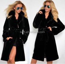 Modern Design China Faux Mink Fur Coats Woman Factory Price