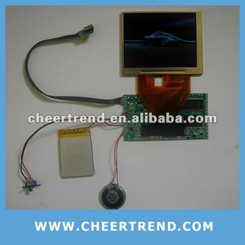 1.8/2.4/3.5/4.3 inch LCD video module for greeting cards