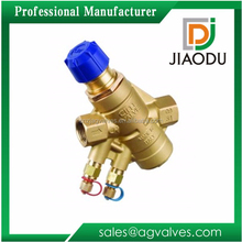 Durable professional factory competitive price copper easy installation pn16 4 5 6 8 inch brass automatic water balancing valve