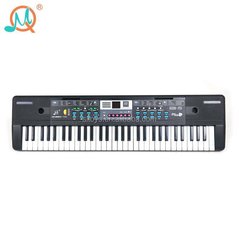 FM radio play electronic professional piano 61 key keyboard with music stand