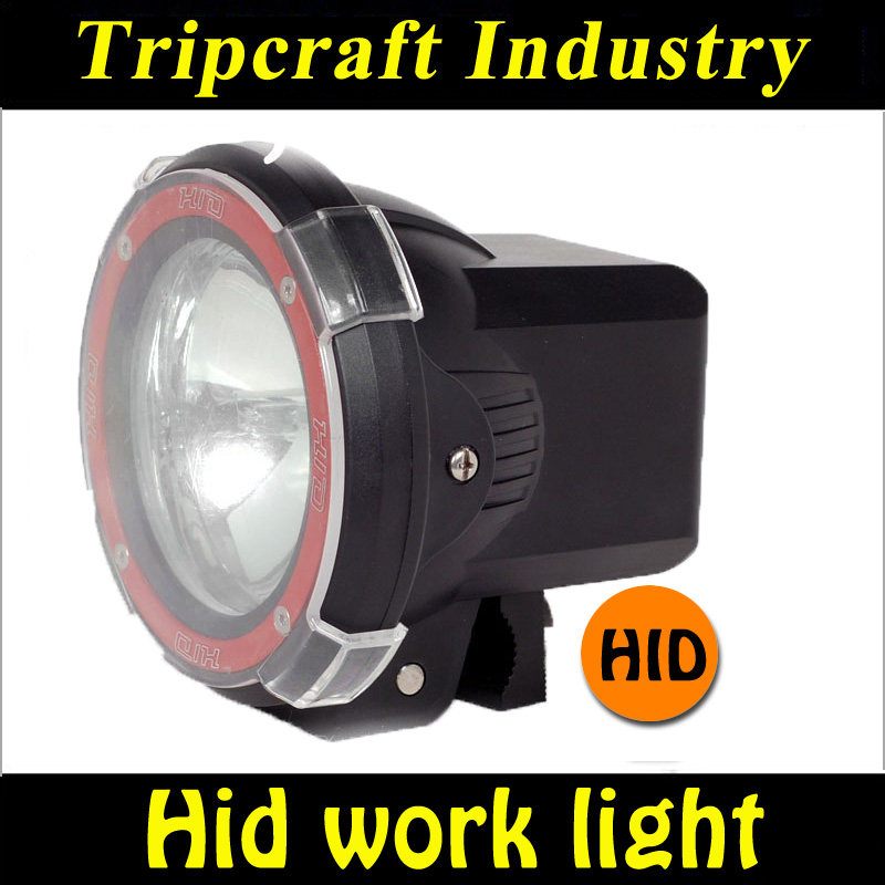 FACTORY WHOLESALE 4'' 35W/55W 12V/24V Super Bright HID Work Light, IP67 Auto HID Work Light, Hid Work Lights For Heavy Truck