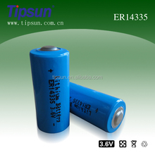 3.6V ER14335 2/3AA Li-Socl2 lithium 1600mAh battery for water meter