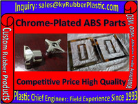 Chrome Silver Copper Plating ABS Plastic Part In Metalic Color