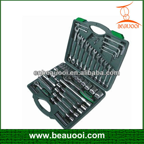77 piece professional impact socket wrench set