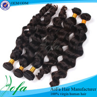 Hot selling unprocessed 5a top grade real brazilian virgin remy hair