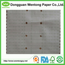 white & brown job ticket paper for garment industry