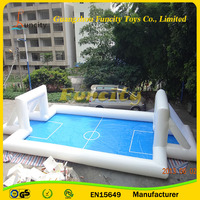 0.6mm or 0.9mm PVC tarpaulin inflatable football field/inflatable football court/water football pitch for sale
