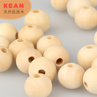High quality DIY loose 12mm round wooden beads