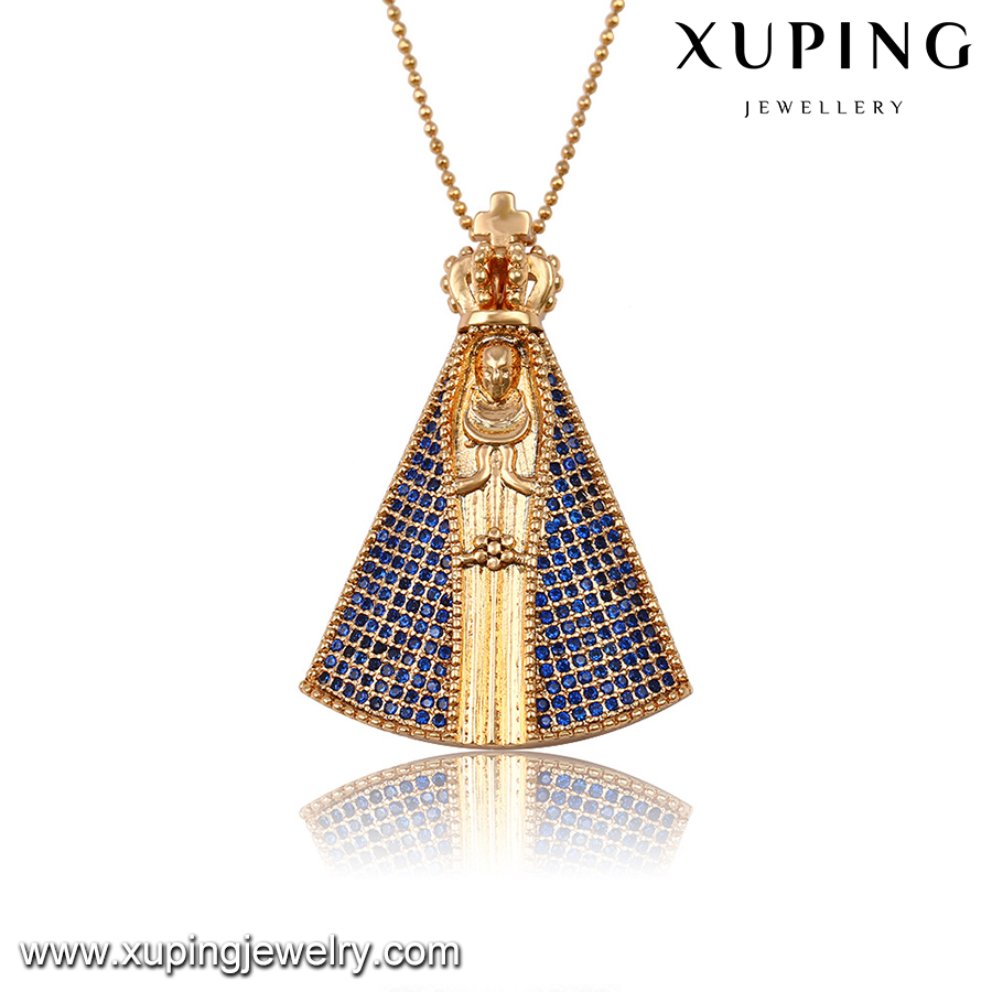 32688-dubai gold plated jewelry 18k gold cz custom pendant
