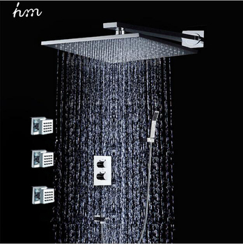 jiangmen hengmei wholesale 3 way thermostatic bathroom shower with body jets