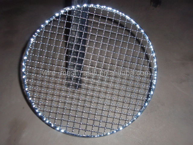 2015new product steel wire crimped mesh&galvanized/ hot dipped /stainless steel/ square wire mesh&barbecue grill netting