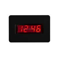 Digital wall LED alarm clock, powered by batteries only but can keep working for one year