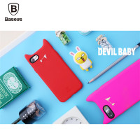 Back Case For iPhone 7/7 Plus,Original Baseus Little Devil Series Soft Silicone Back Case Cover For iPhone 7/7 Plus PB-138