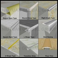 Competitive Price Low MOQ Champagne 6063 Aluminum Ceramic Tile Trim Strip