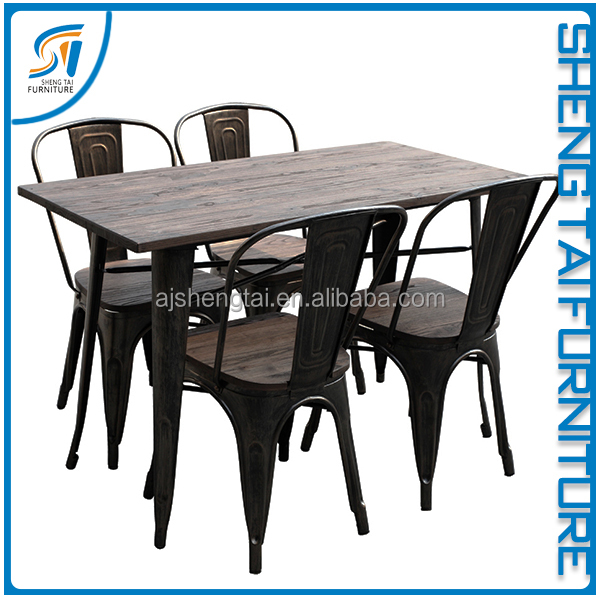 High End Simple Style Restaurant Wood Dining Table and Chairs