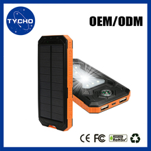 Shenzhen Manufacturer Solar Power Bank 10000mAh Universal Portable Solar Charger Camping Mobile Solar Power Bank