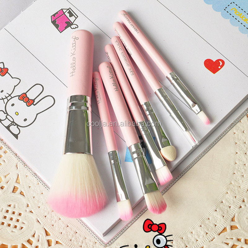 Hello Kitty Pink Girls Cute brushes 5PCS/Set hello kitty set make up brushes pincel maquiagem Makeup Brushes Set