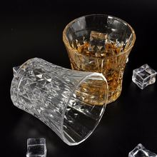 Diamond Shaped Italian Edge Stone Wine Glass Aerating Marble Wine Glasses