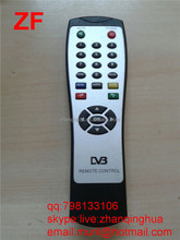 Black 24 Keys Cheap Price DVB REMOTE CONTROL with PVC Sticker for Inida Market Digital Video Broadcasting remote ZF Factory