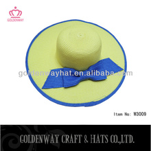 neon color lady hats paper with bow decoration elegant design