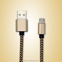 VBEST oem 1.2M double sided micro usb charging braided cable