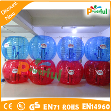 Human inflatable body bumper ball for adult