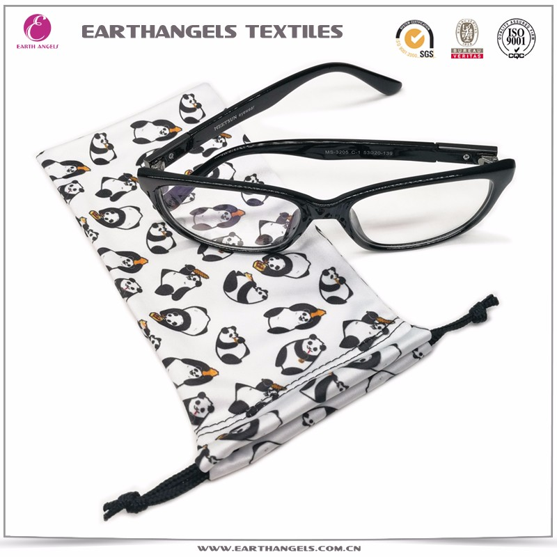 Custom Microfiber Soft Sunglasses Drawstring Bag With Logo