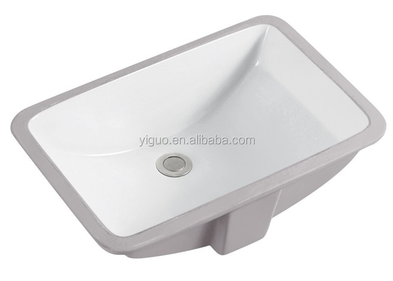 United States popular ceramic material basin for bathroom cabinet undercount sink