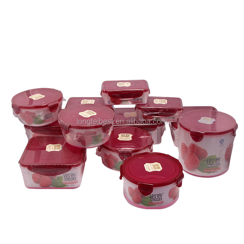 12pcs Top Sale Plastic Seal Airtight Food Storage Containers