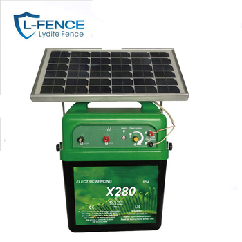 Solar Electric Fence Energizer With Solar Panel For Power Solar System