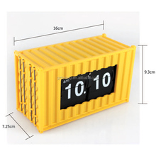 best selling products oem mini Container alarm flip clock