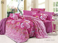 2013 new style 100 cotton 128*68 pigment printed luxury bed sheet set