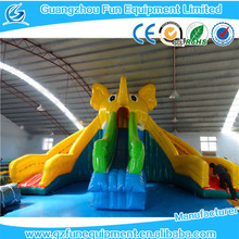 Three slides inflatable cartoon water slide funny water toy for kids