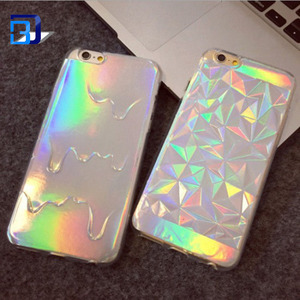 Wholesale Colorful Laser Soft TPU Full Package Cell Phone Case For Iphone 7