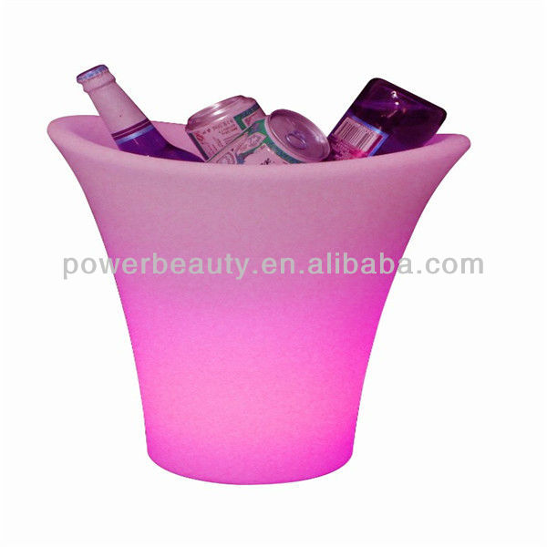 flashing plastic waterproof led light ice wine bucket for bar,party