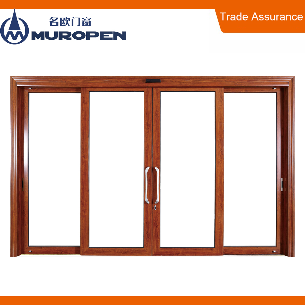 Modern interior aluminum door glass automatic aluminum sliding door