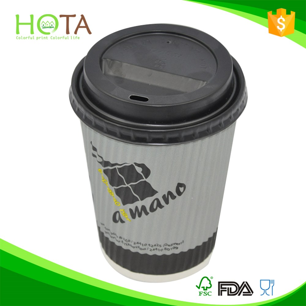 020080 HOTA cup hot sell paper coffee cup with lid cone paper cup