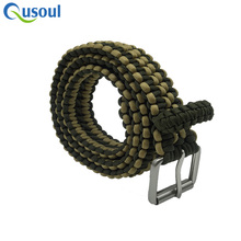 2018 wholesale 7 strands 550 Military rope survival paracord belt for outdoor