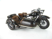 BLACK BMW R71 WITH SIDECAR MODEL PRE-WAR II MOTOR 1:8-SCALE