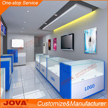 MDF and glass mobile phone store cell phone display showcase