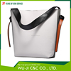 Top Grain Lady Leather Women's Color Block Hobo Diaper Ladies Leather Vanity Bag
