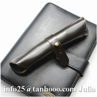 Unique design roll up genuine leather/PU pen case/pen carrying case