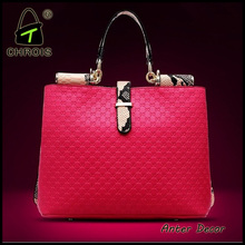 wholesale red bag genuine leather handbag woman bag