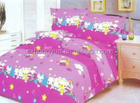 Microfiber polyester brushed fabric printed with big flowers for bedding,curtain