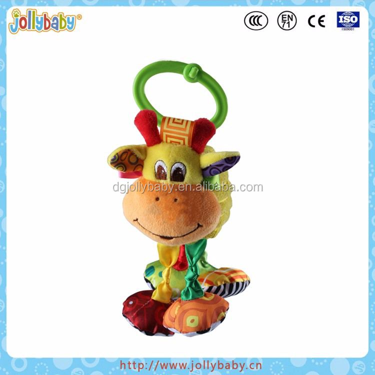Funny pulling and shocking cartoon animal baby plush toys