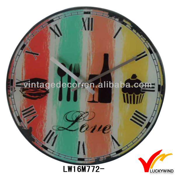 love colorful antique retro different types of wall clocks