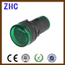 ad16-22ds led indicator light lamp with mini digital voltmeter for machine tool