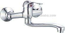 brass chrome plated wall mounted faucet/bathroom sink faucets/single hanlde wall mounted kitchen faucet