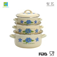 decorative enamel cast iron cookware set